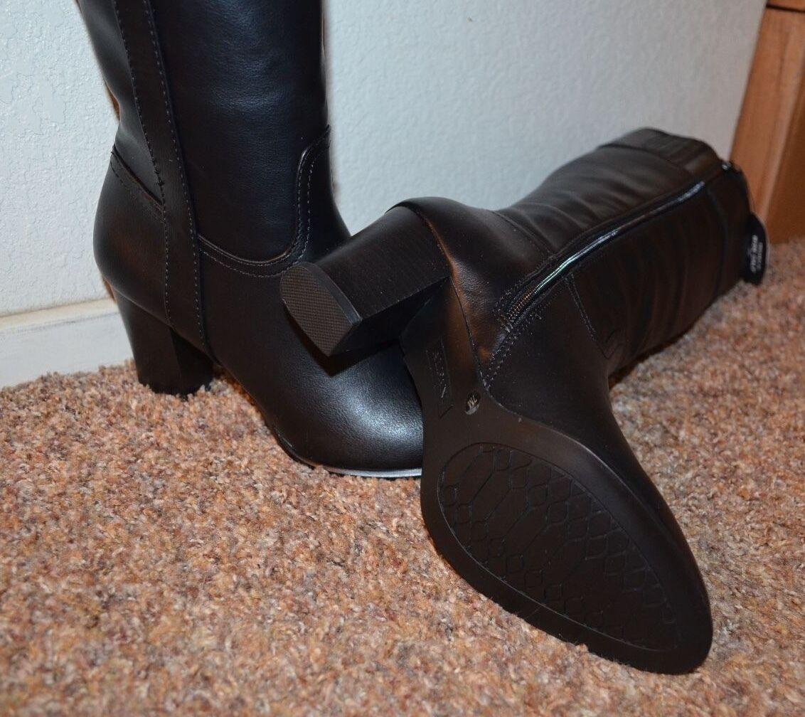 NEW  ALFANI ALFANI ALFANI  Damens BLACK Knee High Stiefel / Größe 7 m / 3