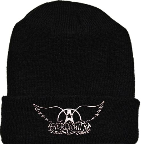 b1df4a985 Aerosmith Wool HaT Black Beanie Knit Rock Band Steven Tyler Pump Get a Grip