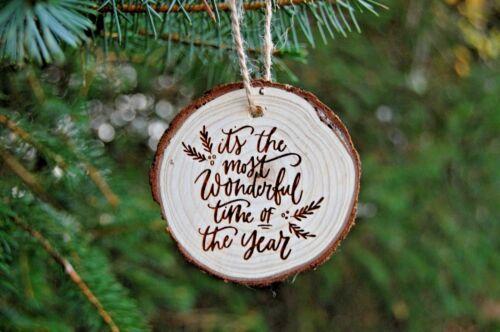 Wood Slice Babiole rustique Plus belle époque de l/'année babioles de Noël