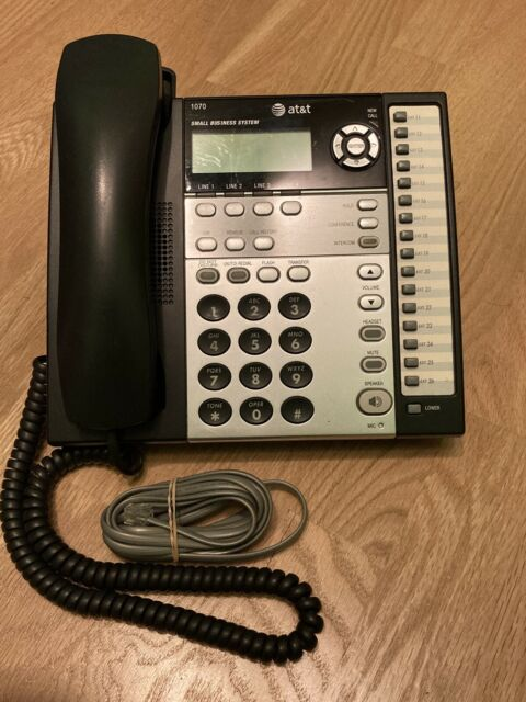 AT&T 1040 4-Line Intercom Paging Small Business Office ...