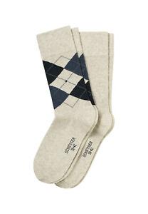 Schiesser-Men-039-s-Socks-2er-Pack-Cotton-Fit-Uni-Mottled-Argyle-Size-39-46