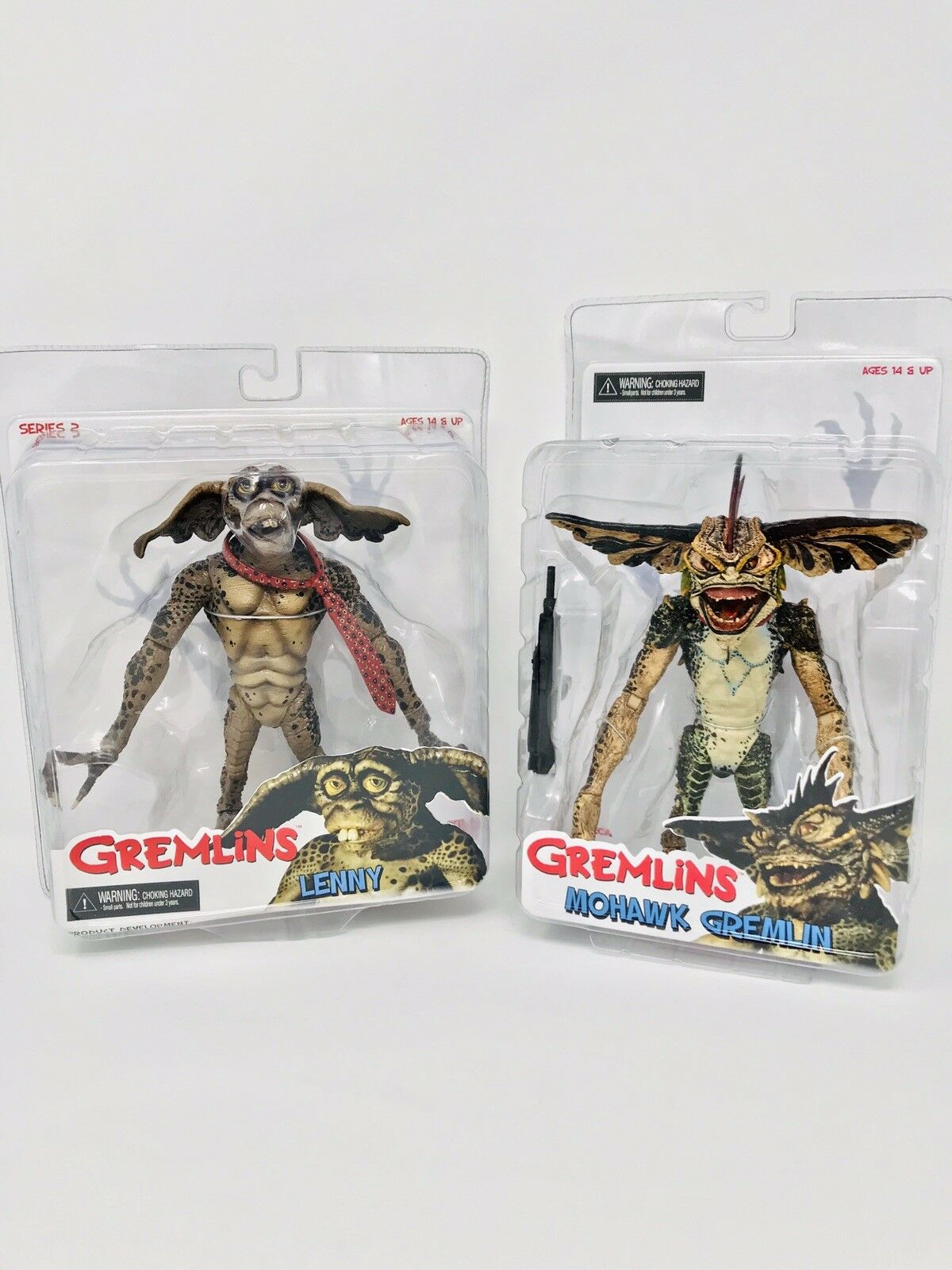NECA Reel Toys GREMLINS MOHAWK and LENNY Series 2 - 7  Action Figure NEW SEALED