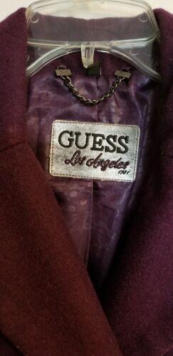 Wool Størrelse Jacket Small Lilla Women's Blend Outerwear Guess Bourgogne Coat Pzn5wx4qB