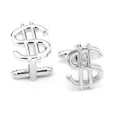 Quality Cufflinks Dollar Sign Cuff links silver Colour $ French Shirt