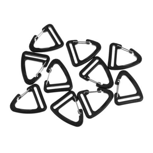 10pc Plastikschnallen Haken Karabiner hängendes Keychain Für 25mm