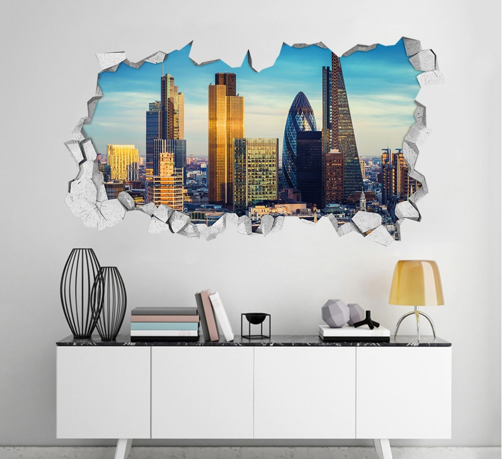 3D London Gebäude 1 Mauer Murals Mauer Aufklebe Decal Durchbruch AJ WALLPAPER DE