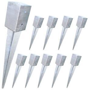 10 Stück Einschlagbodenhülsen 91x91x750mm Feuerverzinkt kurze Hülse