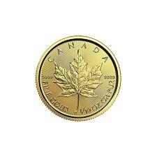 2017 1/10oz Canada Gold Maple Leaf BU