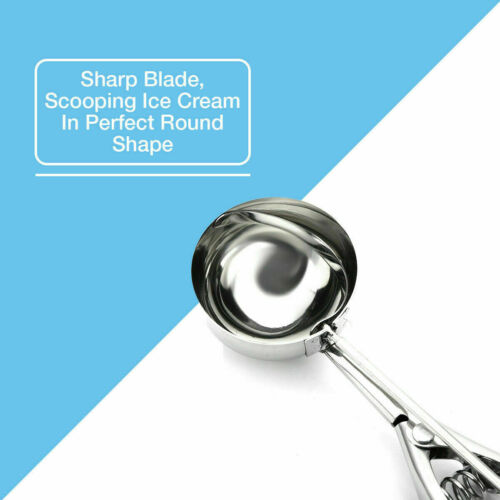 Ice Cream Scoop Food Stainless Steel with Trigger Cookie Spoons Large