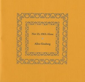 ALLEN-GINSBERG-NOV-23-1963-ALONE-BOTTLE-OF-SMOKE-PRESS-LTD-EDN-100-WRAPS