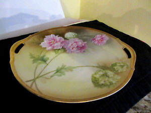 RS-Germany-Floral-Two-Open-Handles-Cake-Cookie-Plate-10-034-Diameter