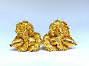 Authentic-Tiffany-Three-Tiered-Floral-Cluster-Clip-Earrings-18-Karat