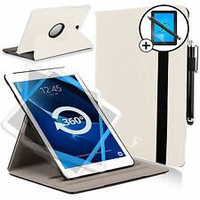 Leather White Rotating Smart Case Samsung Galaxy Tab A 10.1 Screen Prot & Stylus