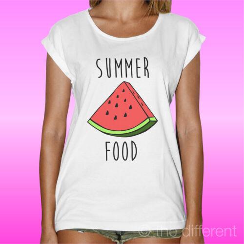 """T-Shirt /"""" Sommer Food Wassermelone /"""" Road bis Glück Geschenkidee"""