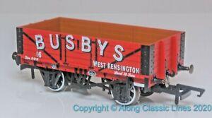 Oxford-Rail-OR76MW5002-OO-Gauge-5-Plank-Open-Wagon-039-Busbys-039