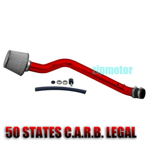 96-98 HONDA CIVIC EX HX 1.6L INDUCTION COLD AIR INTAKE FILTER JDM RED ALUMINUM
