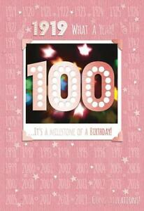 Image Is Loading 100th 100 Birthday Card 1919 Year You Were