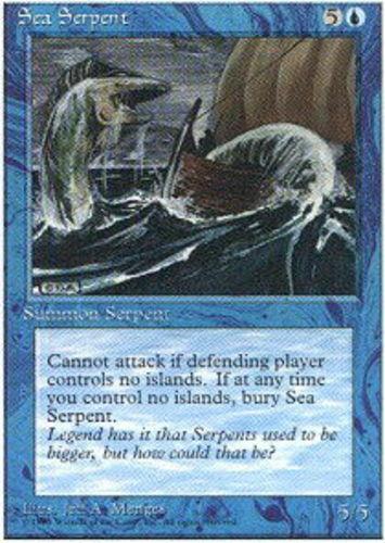 Sea Serpent ~ Near Mint Alternate 4th Edition Fourth UltimateMTG Magic Blue Card