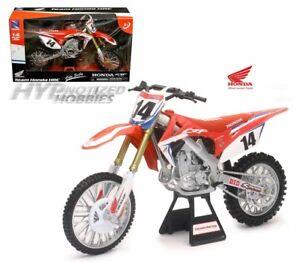 Newray 1 6 Motorcycles Honda Crf 450r Team Honda Hrc 14 Cole Seely Red 49603 Ebay