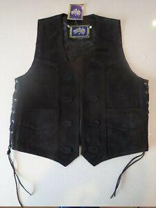Motorcycle-Vest-Suede-Biker-Waistcoat-Harley-Davidson-Size-XL