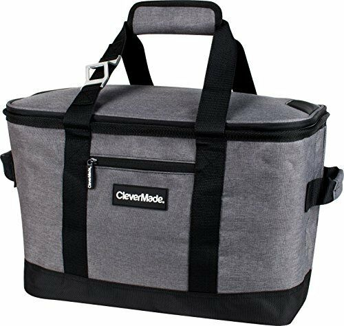 CleverMade SnapBasket 50 Can Soft Collapsible Cooler  30 Liter Insulated Bag