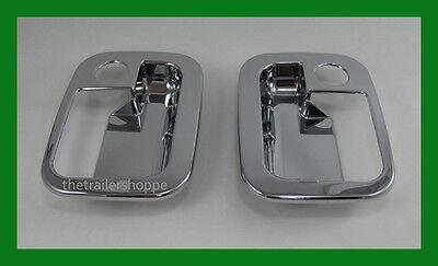 Chrome door handle covers plastic 2005-16 Peterbilt exterior LH /& RH part# 52003
