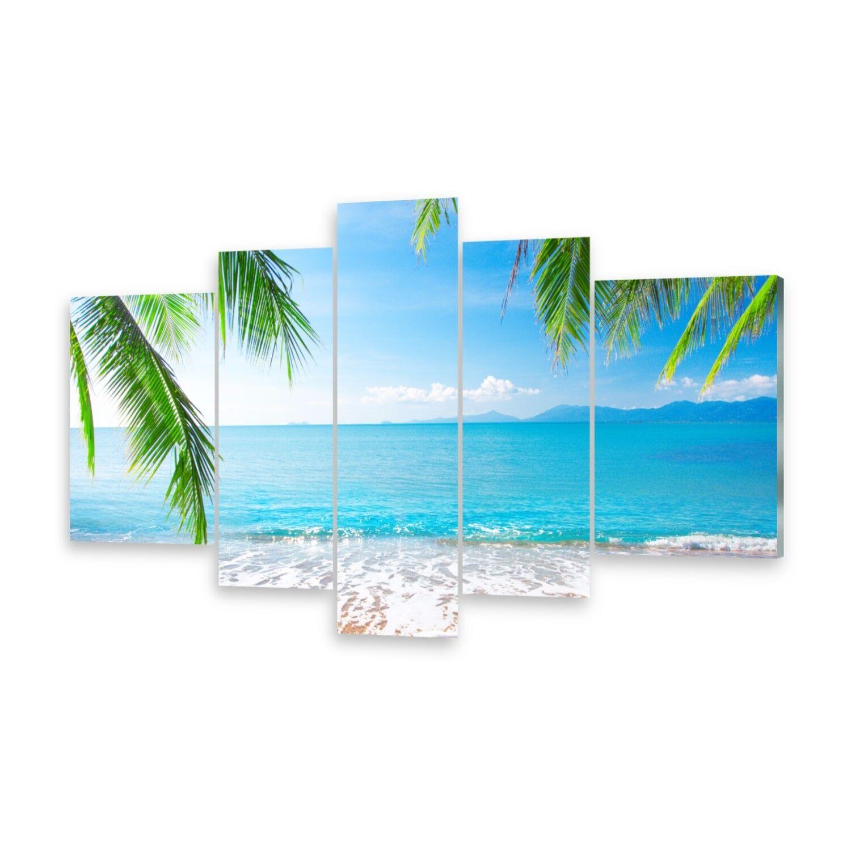 Mehrteilige Bilder Acrylglasbilder Wandbild Palme und Strand