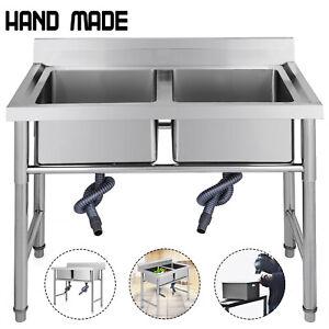 Lavello Cucina Acciaio Inox 100 X 60 Cm Mobile Lavatoio Altezza 90 Cm Popular Ebay