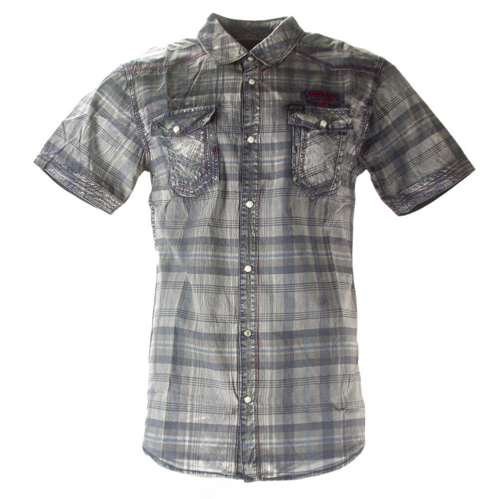 Buffalo David Bitton Men's Petrol Plaid Steddy Button-up Shirt BPM11891 NEW