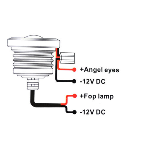 Universal 2.5INCH Yellow Led Fog Light Projector COB Amber Angel Eyes Halo Ring