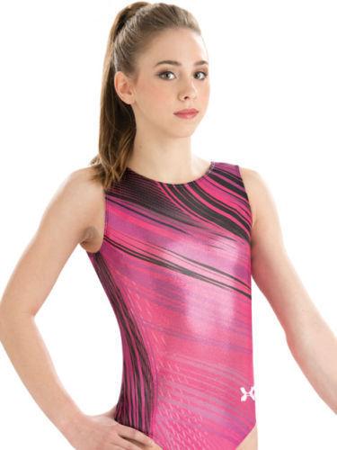 Nuovo UA Gymnastics Bodysuit Large Leotard rosa Ambition Adult Large Bodysuit AL dbd890