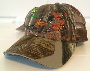 7ea61f2e82c10 John Deere Realtree Camo   Mesh Hat Cap w Embroidered Pheasants