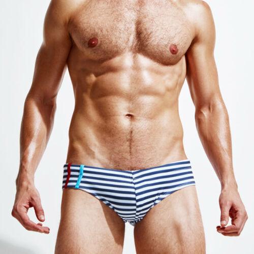 Men/'s Striped Swimsuit Trunks Boxers Swim Briefs Surfboard Shorts Beach Swimwear