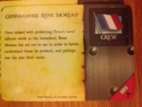 Pirates Fire /& Steel #089 Gendarmerie Rene Moreau Pocketmodel CSG