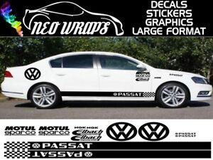 Volkswagen-Passat-Kit-x16pc-Graficos-Adhesivos-VW-hasta-POLO-BEETLE-GOLF-Dub