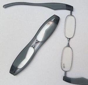 2-x-Lesebrillen-BLAU-1-0-Dpt-klappbar-Ersatzlesebrille-Mega-cool-POD-XL