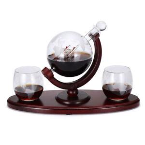 850ml-Glass-World-Globe-Decanter-Vodka-Whisky-Wine-Spirit-Bottle-Christmas-Sets