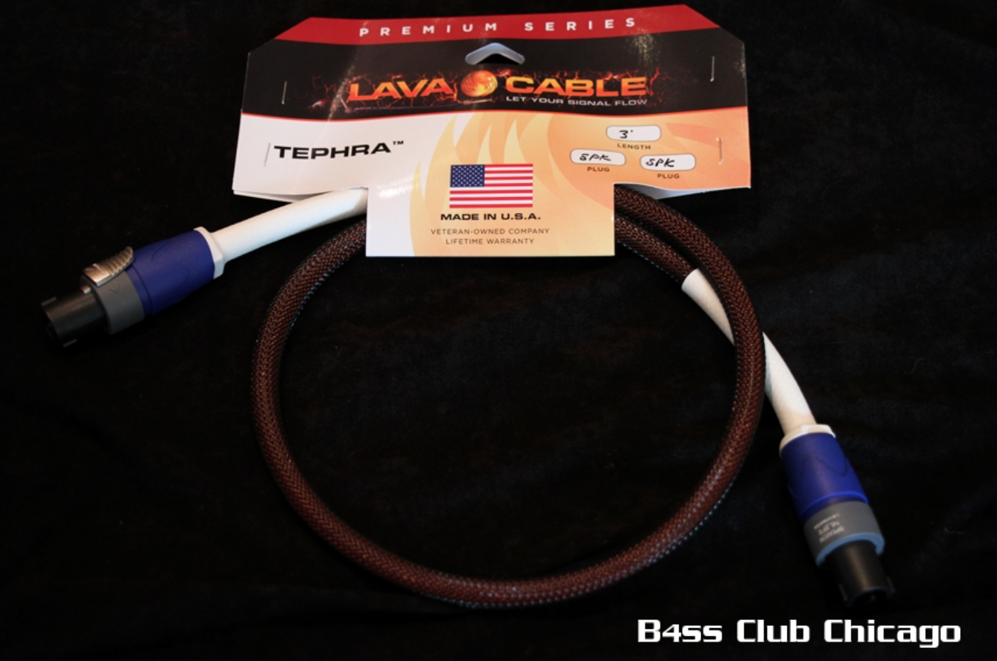 Lava Cable Tephra Speakon Cable 5ft WITH TECHFLEX