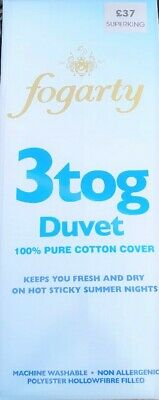 Made by FOGARTY Bedding Heaven 3 tog Super King DUVET PURE COTTON COVER