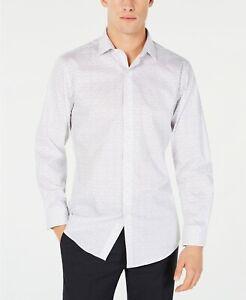Bar-III-Men-039-s-Slim-Fit-Stretch-Scattered-Dot-Print-Dress-Shirt-Grey-White