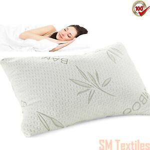 Sleeping Bamboo Memory Foam Orthopedic Pillow Soft Bed Antibacterial Pillows New