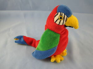 TY Original Beanie Baby JABBER Parrot RETIRED Bird 1997 1998 MWT Tag ... 3c1cfd537249