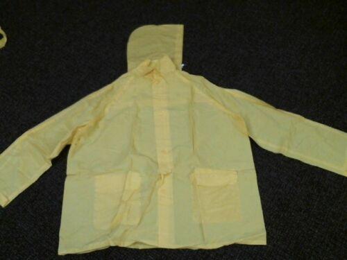 2XL Light Weight Yellow Rain Suit 3pc Set- Jackat Pants /& Hood