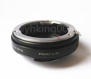 Pentax K PK P//K mount lens to Leica M L//M LM mount adapter M240 M6 M7 M8 M9