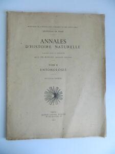 Entomologia Morgan Annali Storia Naturale Délég. Persiano Ernest Leroux 1912