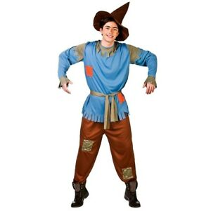 Adult Scarecrow Wizard Of Oz Fancy Dress Costume Tv Film Dorothy