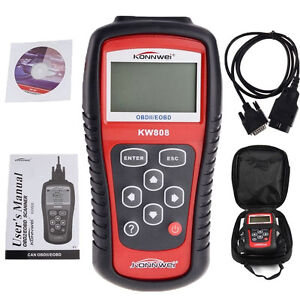 EOBD OBD2 OBDII Car Scanner Diagnostic Live Data Code Reader Check Engine Scan