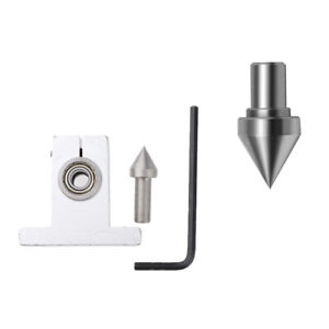 Wood Lathe Tailstock Thimble Drill Bits with Wrench Woodworking DIY