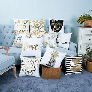 11 styles soft pineapple love bronzing pillowcases car cushions home decor top