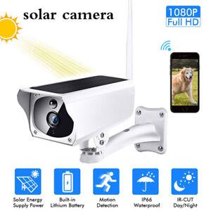 Solar Powered Waterproof Security Camera IP67 Wifi Wireless IR HD Outdoor CCTV